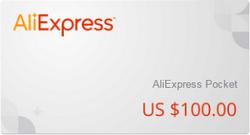 подарочный сертификат алиэкспресс 100$