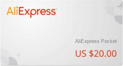 подарочный сертификат алиэкспресс 20$